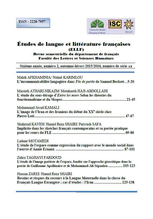 Etudes de Langue et Littérature Francaises
